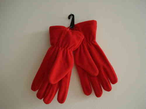 Red Fleece Gloves