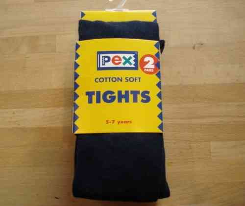 Cotton Soft Navy tights twinpack