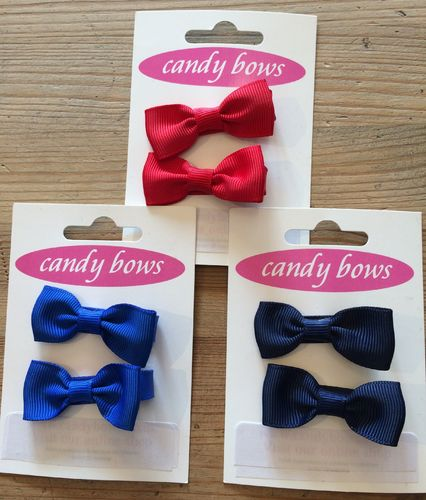 Candy Bows hair clips