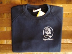 Blossom Sweatshirt NAVY BLUE Upper House