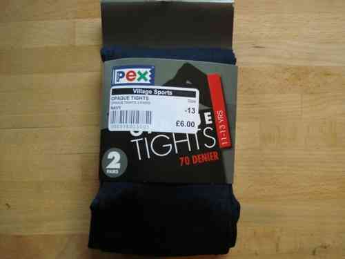 70 Denier Opaque Tights Navy TWINPACK