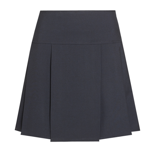 Navy drop waist pleated senior school skirt