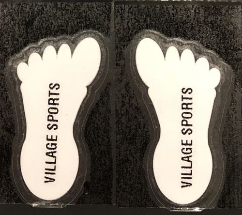 Self adhesive printed shoe labels x 5 sets