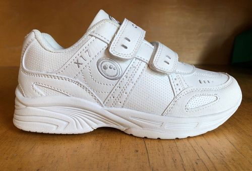 Optimum white school trainers velcro