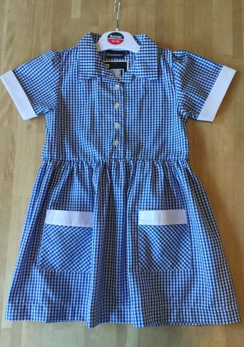 Blue/White gingham summer dress