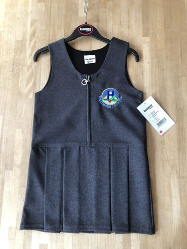 Grey Pinafore dress